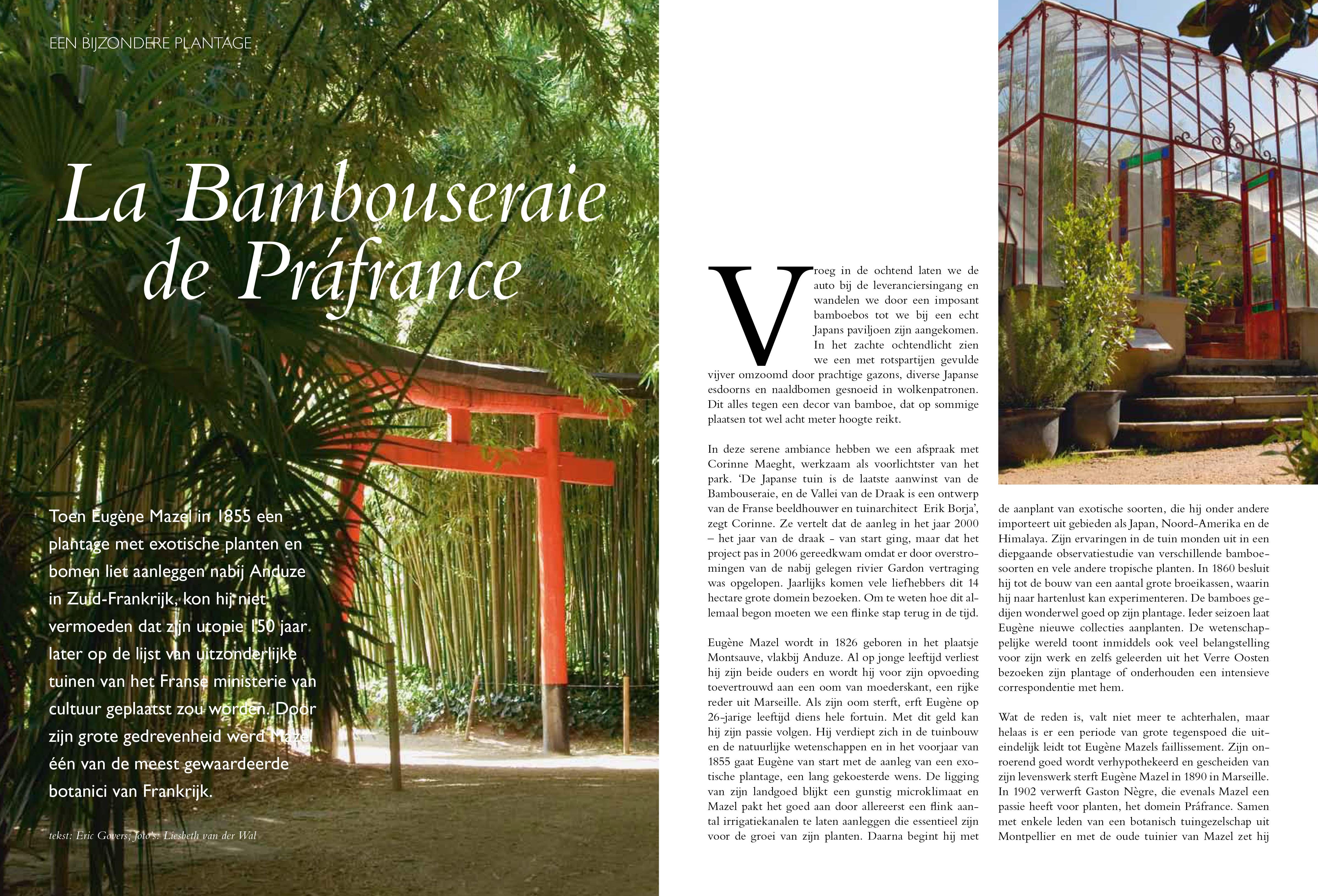 Tuinspecial La Bambouseraie