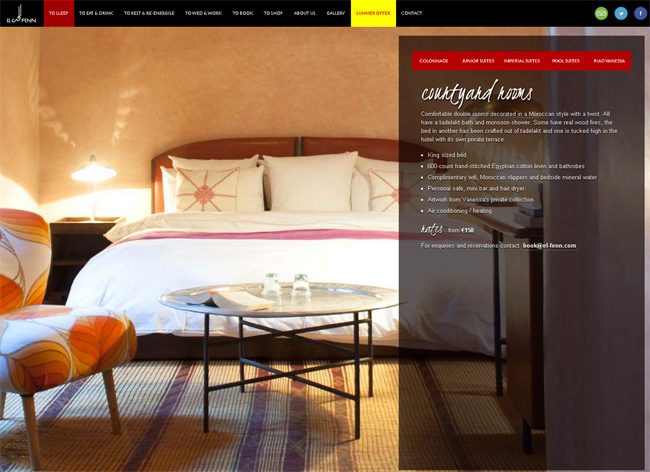 Website Riad El Fenn